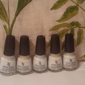5 bottles New China glaze polish 1508 blan cout
